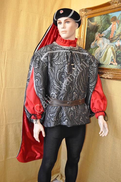 Costume Uomo Medievale con copricapo (13) a6f8446afa5e
